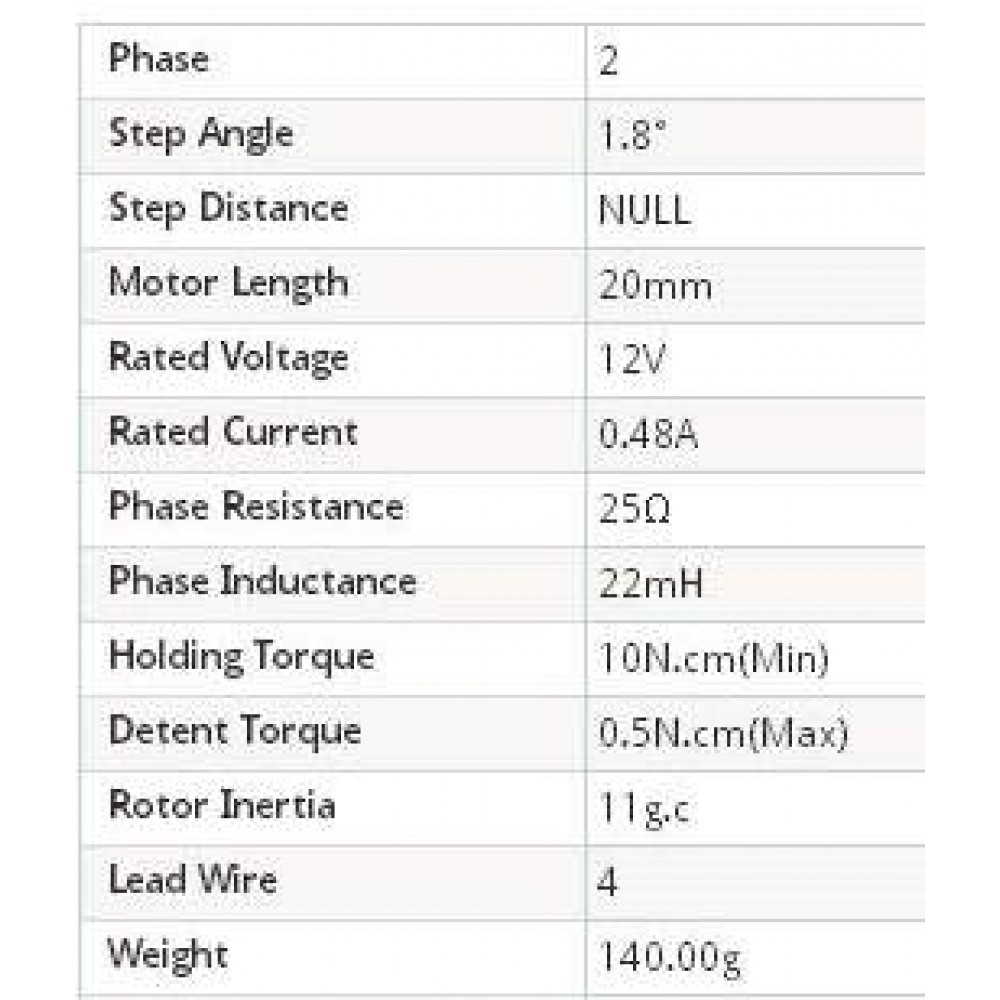 Шаговый двигатель 39BYGH0408 1.8° 20MM Arduino