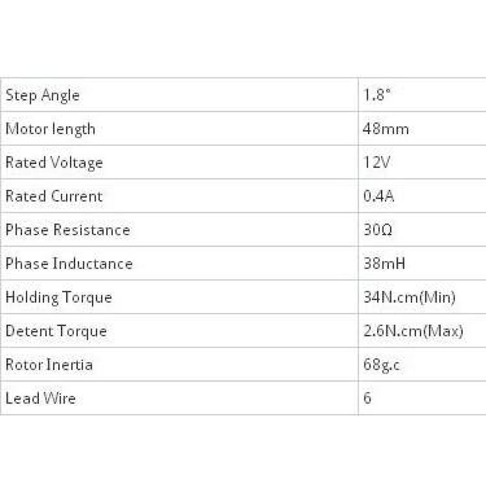 4ф шаговый двигатель 42BYGH0604 1.8° 48MM Arduino