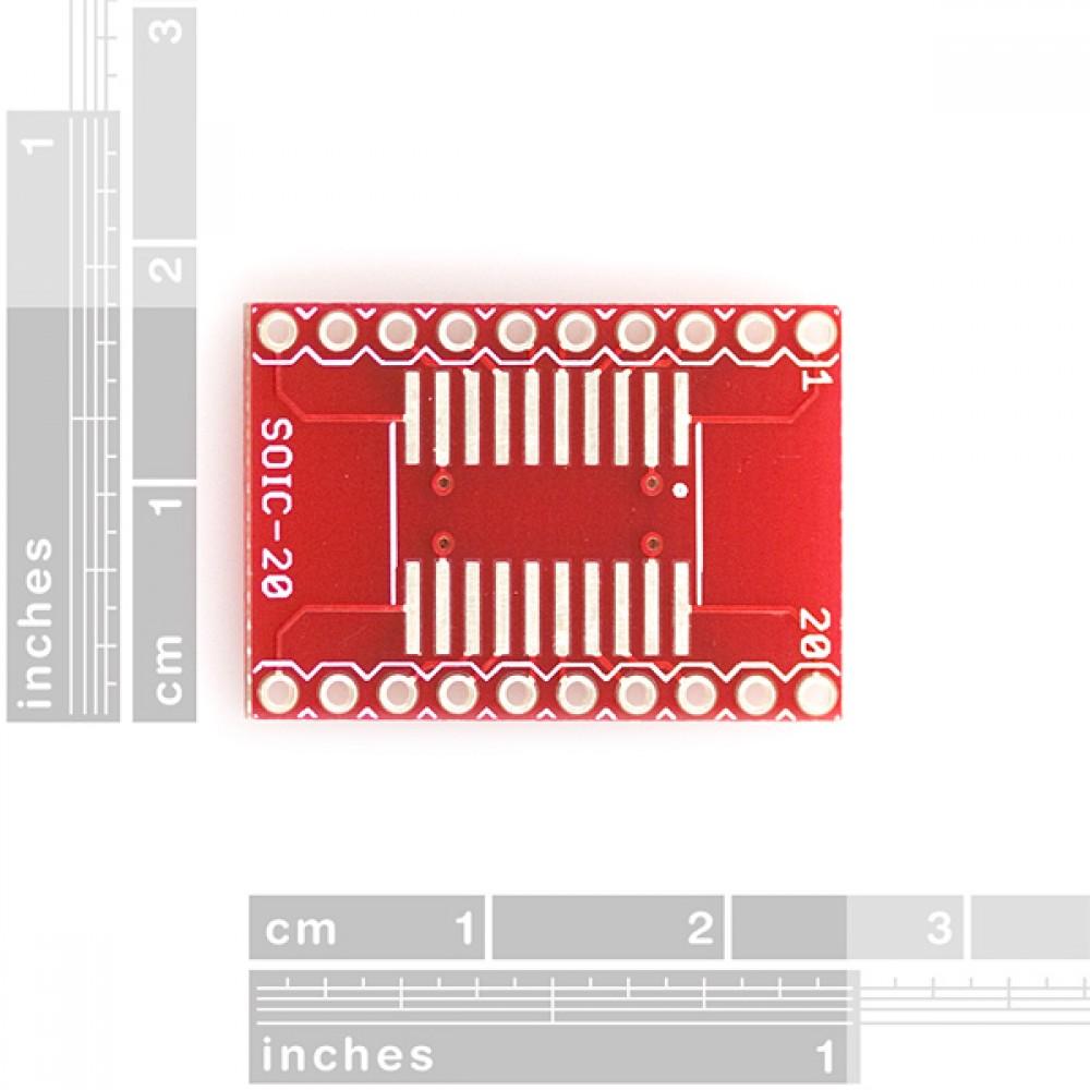 Адаптер 20-пиновый SOIC --> DIP