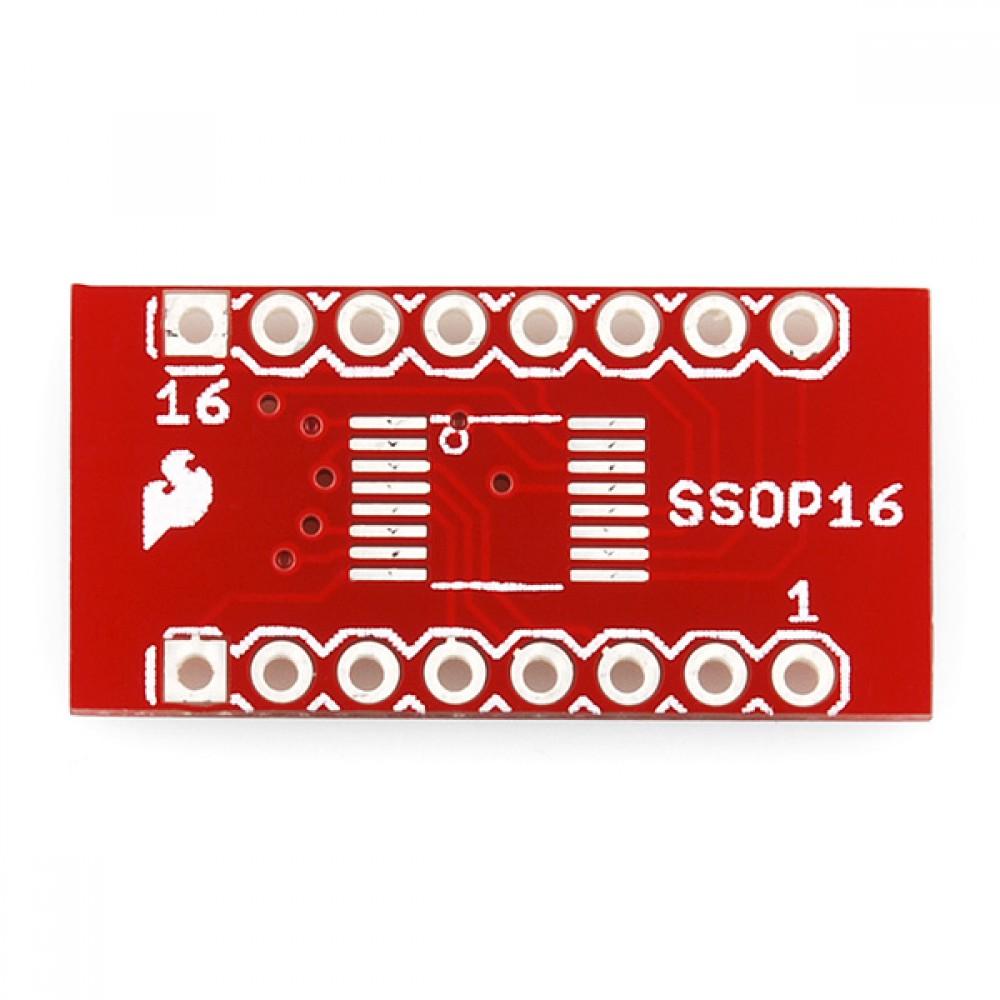 Переходник 16-пиновый SSOP --> DIP