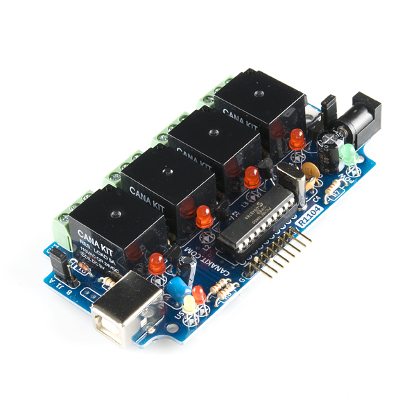 USB релейный регулятор с 6-канальным вводом-выводом