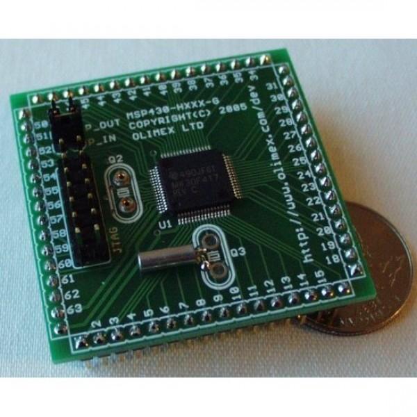 Плата-переходник для MSP430F417
