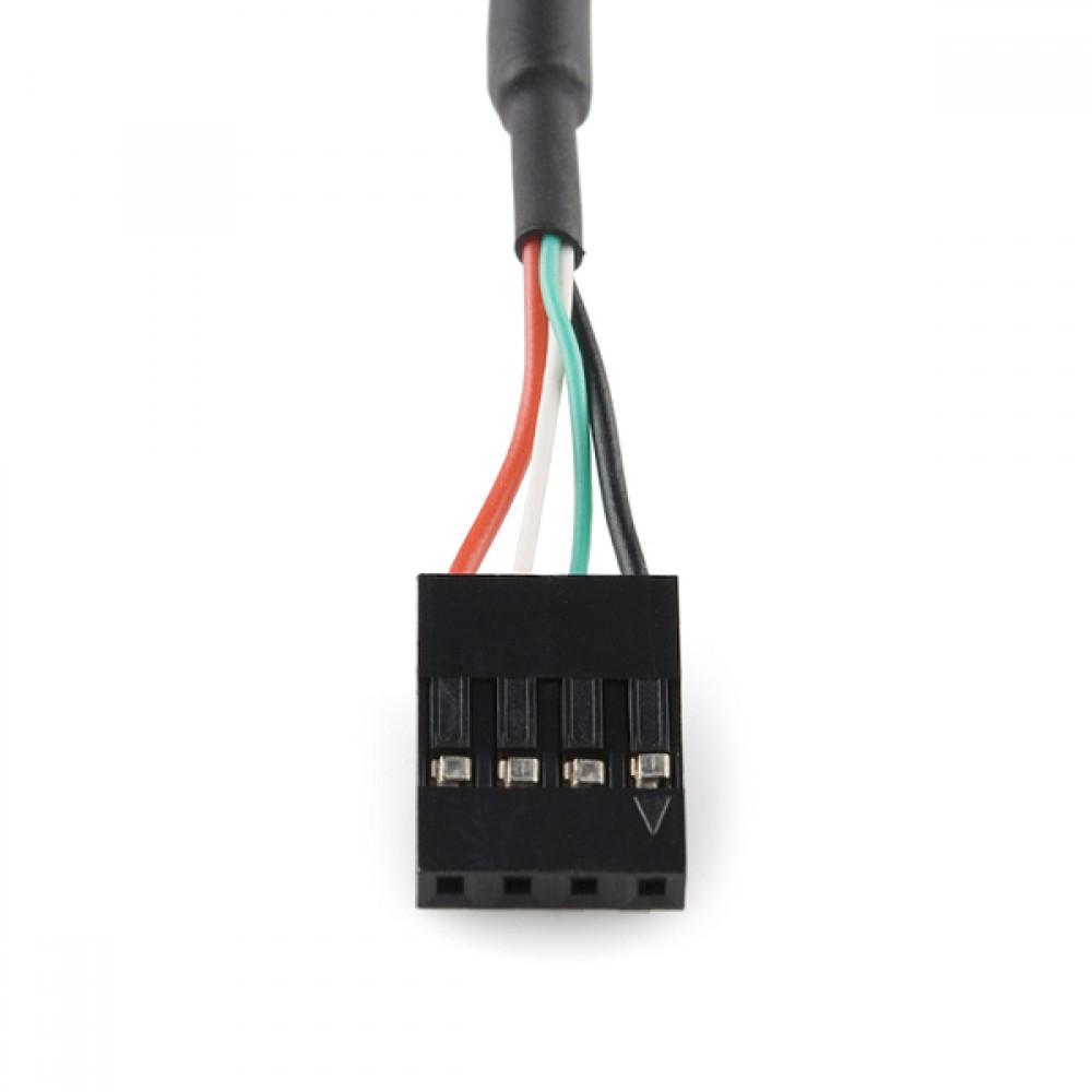 """Крепление для USB на 4-пиновый кабель с переходником """"мама"""""""