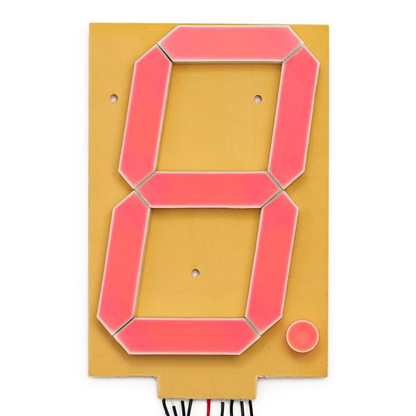 "7-сегментный экран - 6.5"" (Белый)"