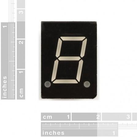 7-сегментный экран - LED (Синий)