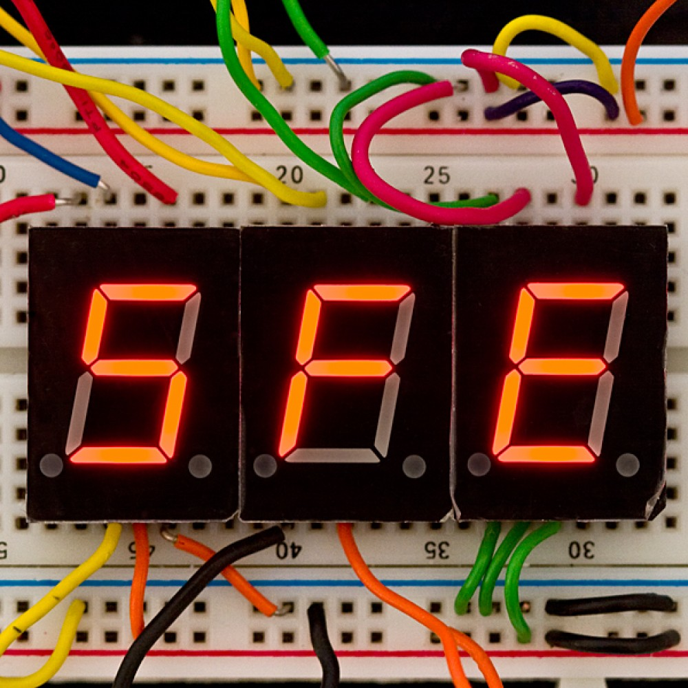7-сегментный экран - LED (Красный)