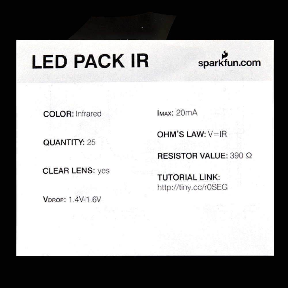 LED-индикатор - инфракрасный - 850 нм (25 штук)