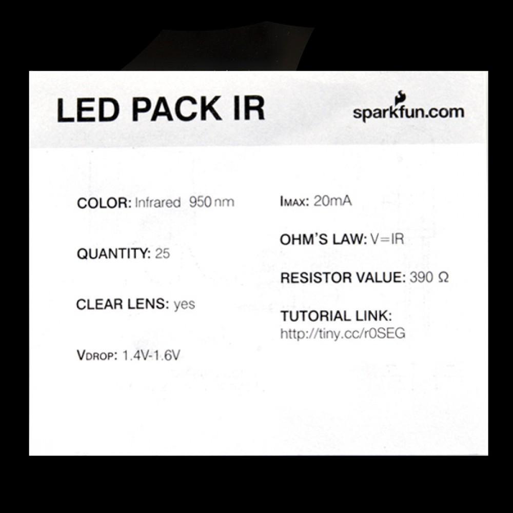 LED-индикатор - инфракрасный - 950 нм (25 штук)