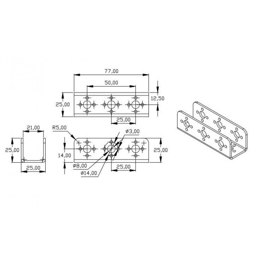 Алюминиевый фиксатор 2