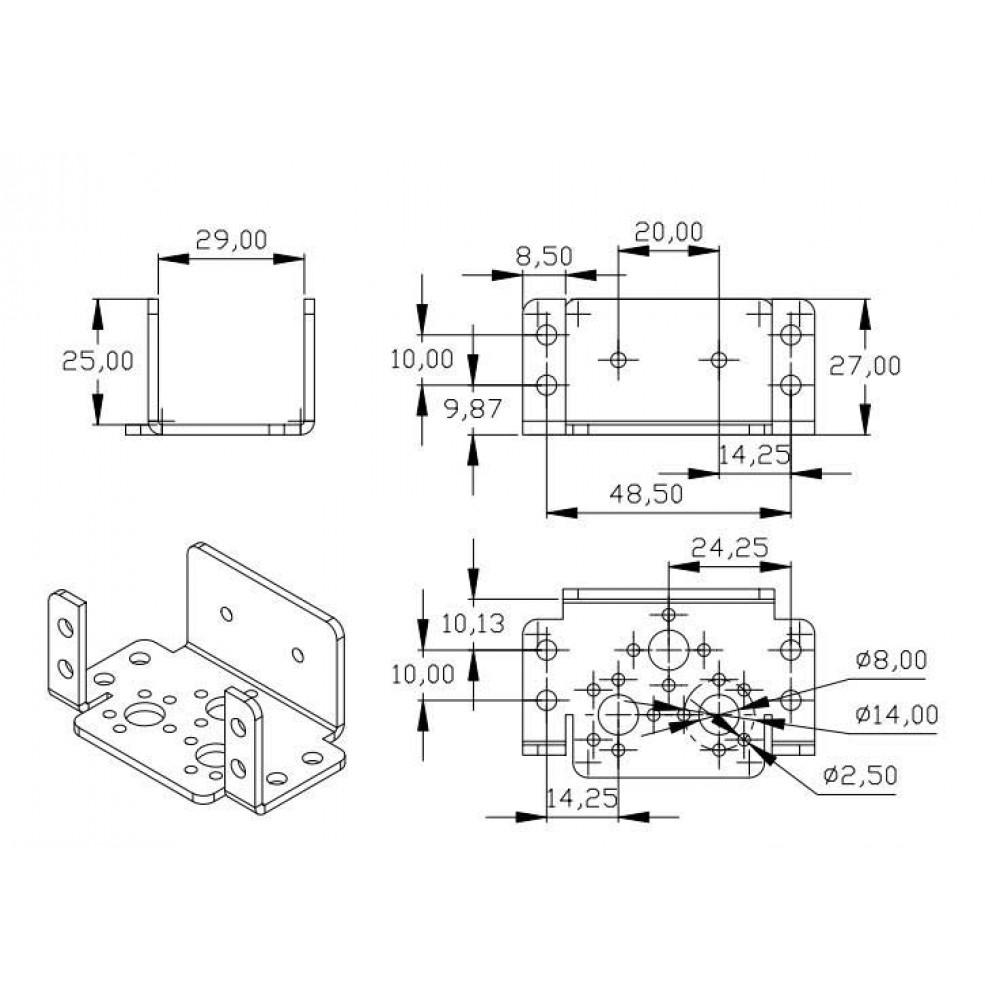 Алюминиевый фиксатор 3