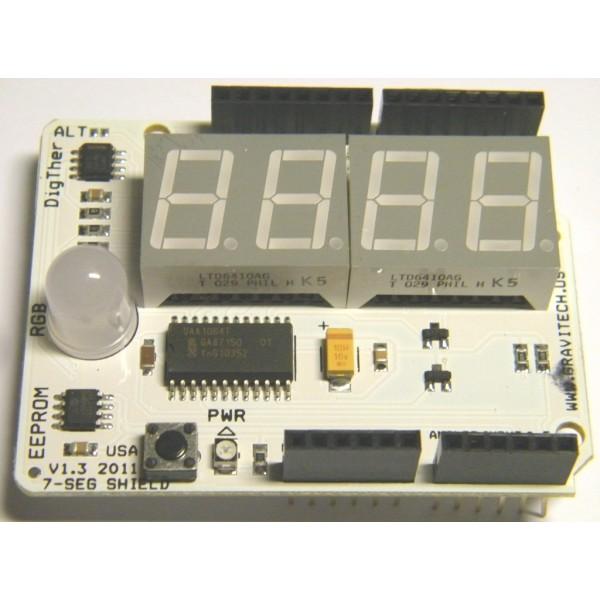 7-Segment Shield плата для Arduino (с дисплеем)