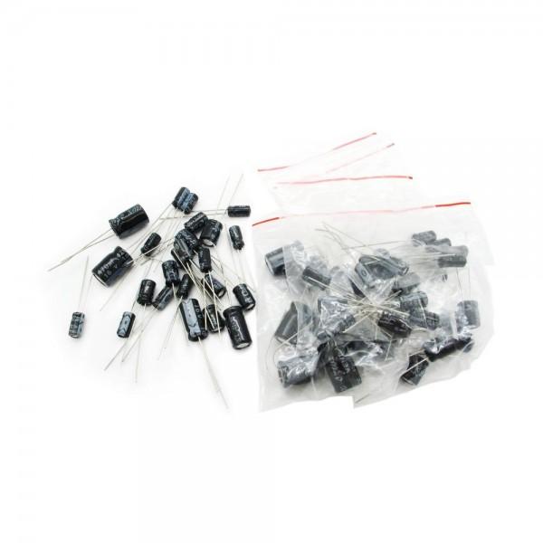 Набор электролитических конденсаторов - 12 номиналов - 1 мкФ-470 мкФ