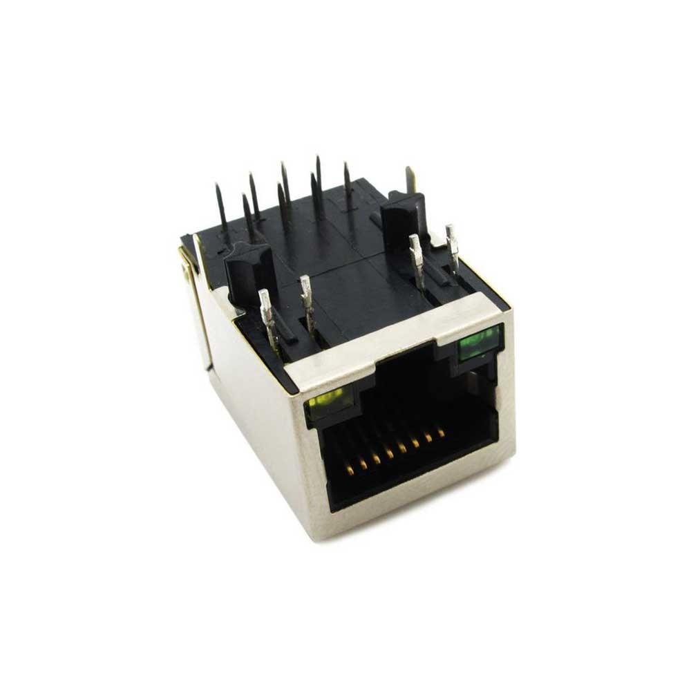 Разъем HR911105A RJ45 CAT5 Lan Ethernet LED