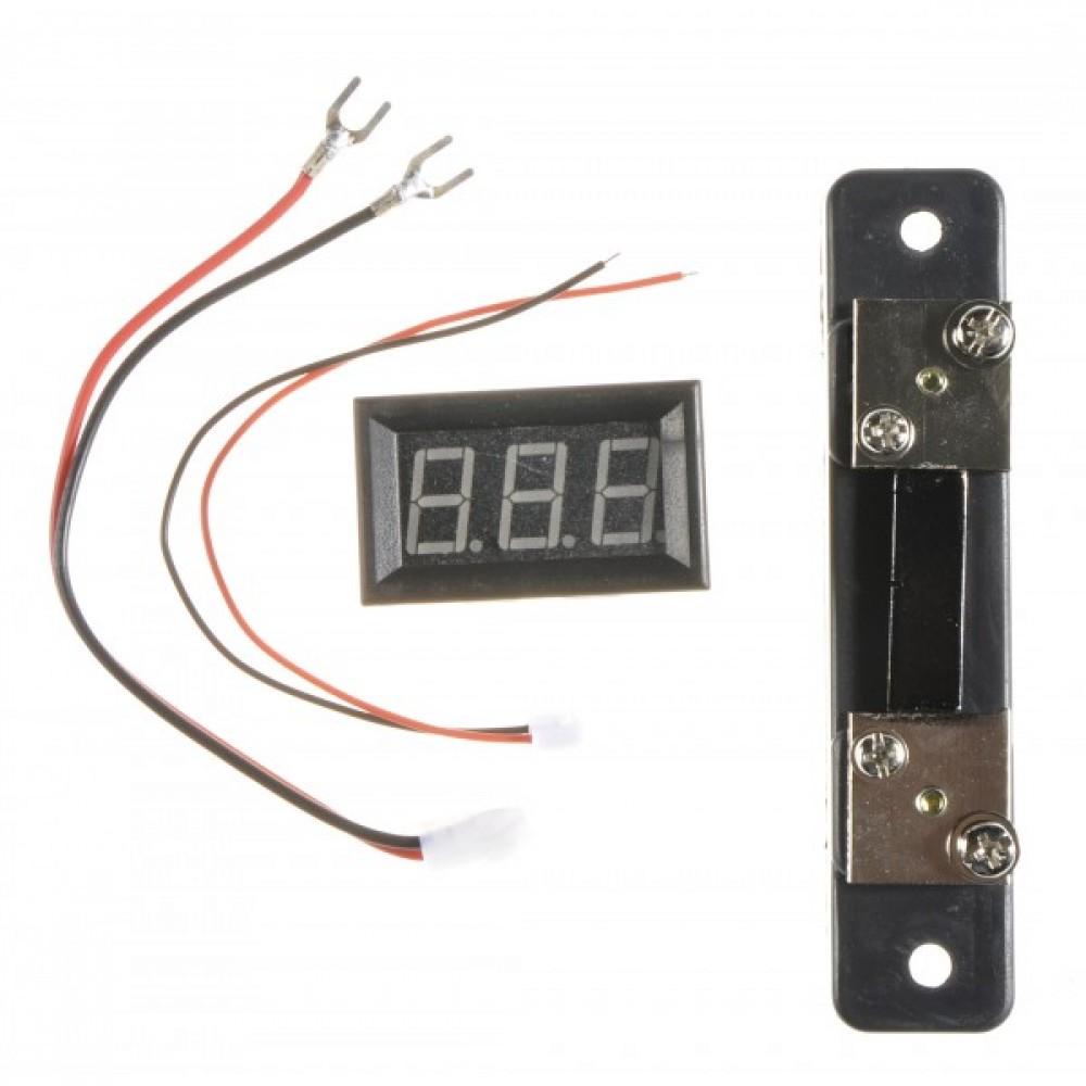 Амперметр до 50 А (красный LED)