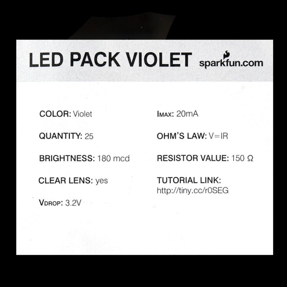 LED-индикатор - Фиолетовый - 5 мм (25 штук)