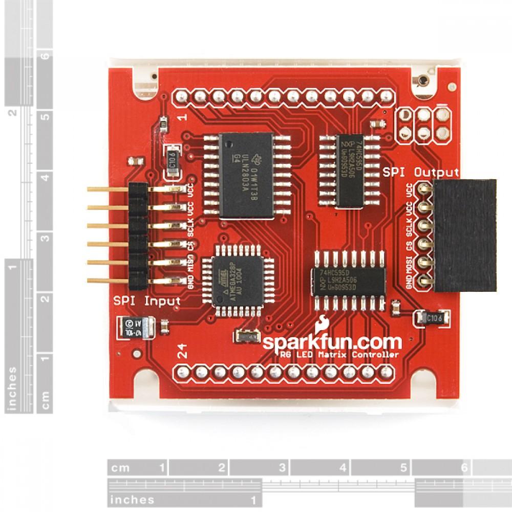 LED-матрица - серийный интерфейс - красная/зеленая