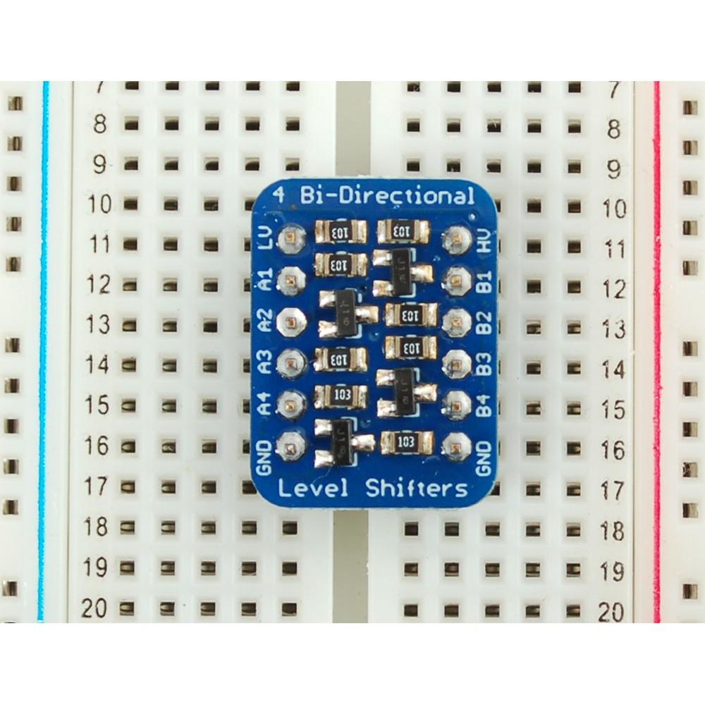 Преобразователь логических уровней, 4-канальный двухсторонний, I2C