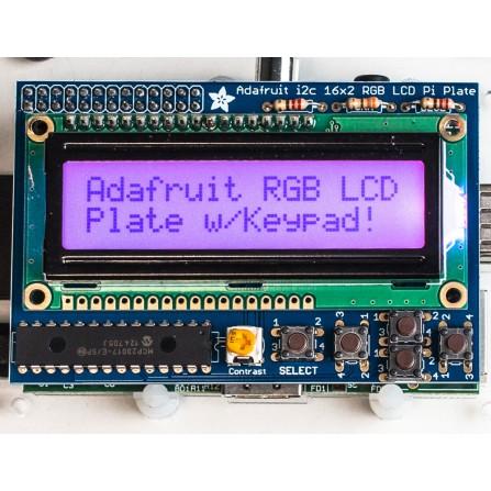 Дисплей RGB Positive 16x2 LCD + Набор для сборки клавиатуры для Raspberry Pi