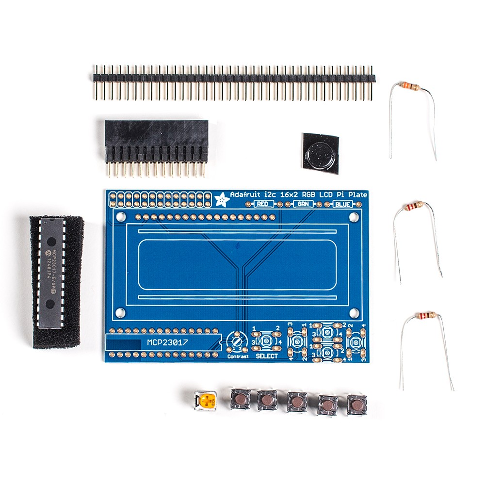 Дисплей RGB Negative 16x2 LCD + Набор для сборки клавиатуры для Raspberry Pi