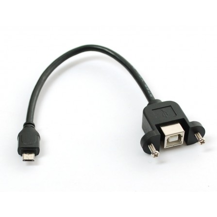 """Переходник панельный для USB-кабеля / B """"мама"""" -->> Micro-B """"папа"""""""