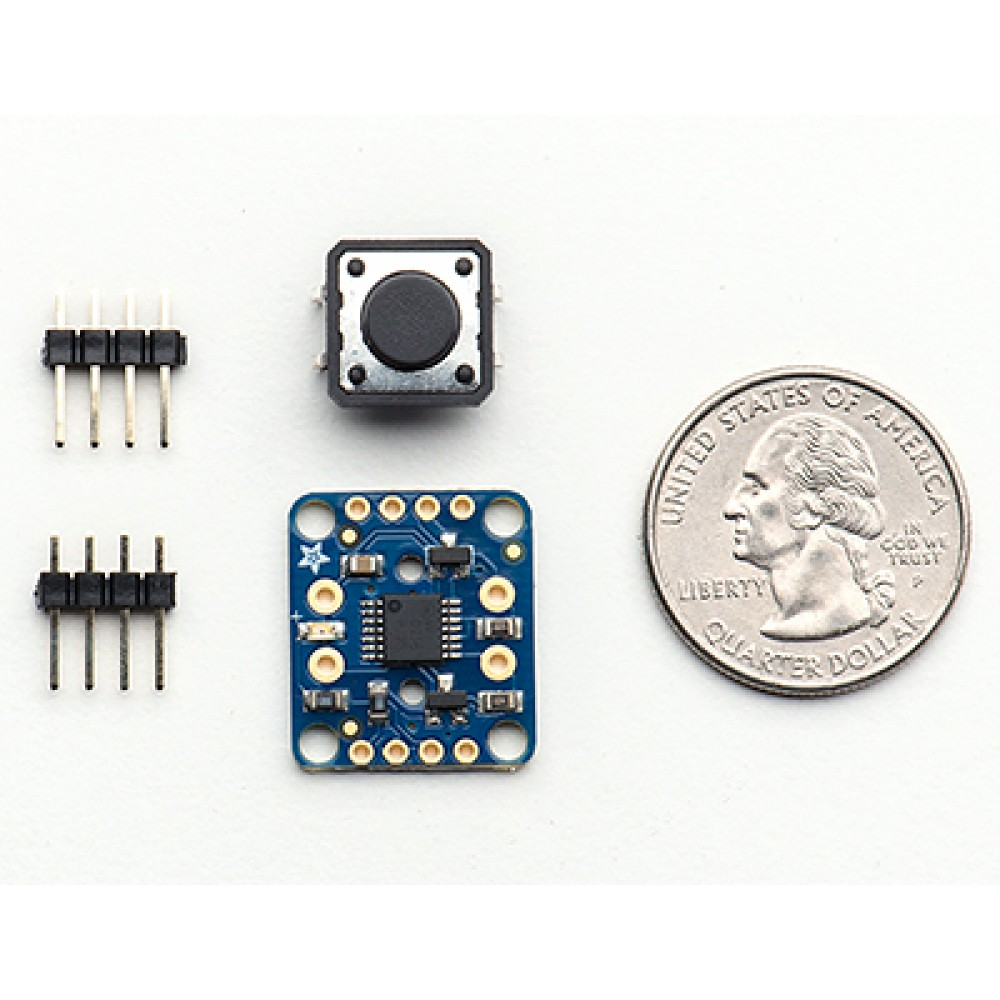 Кнопка питания - Adafruit Push-button Power Switch Breakout