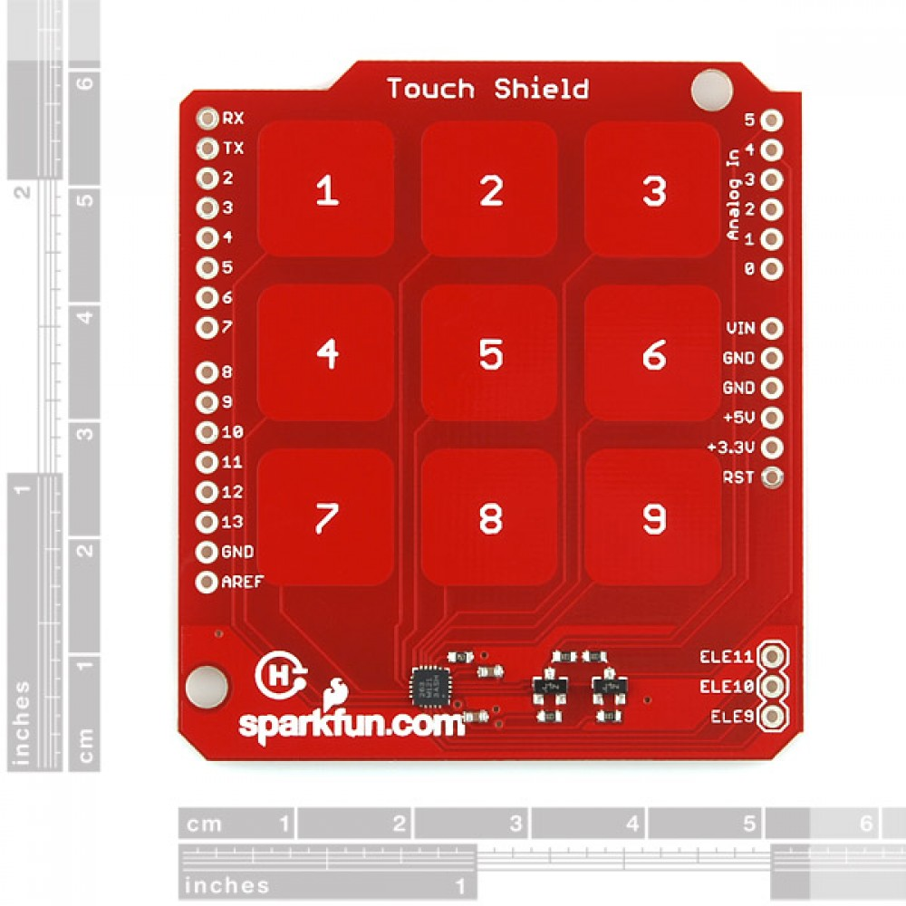 Touch Shield c кнопками-цифрами для Arduino