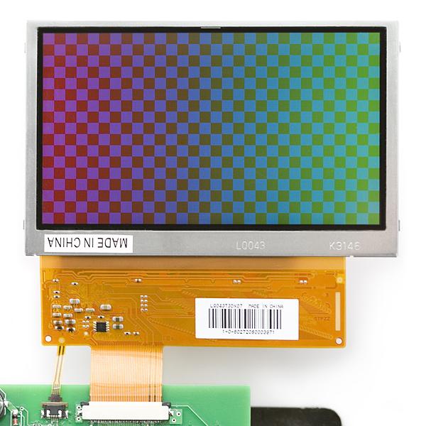 Цветной 24-битный LCD-экран 4.3