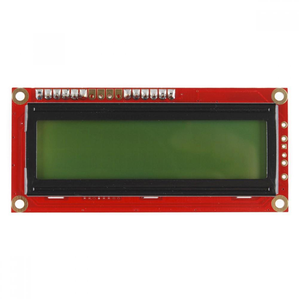 Экран Serial Enabled 16x2 LCD - черно-зеленый 3.3V