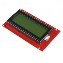 Экран Serial Enabled 20x4 LCD - черно- зеленый 5V