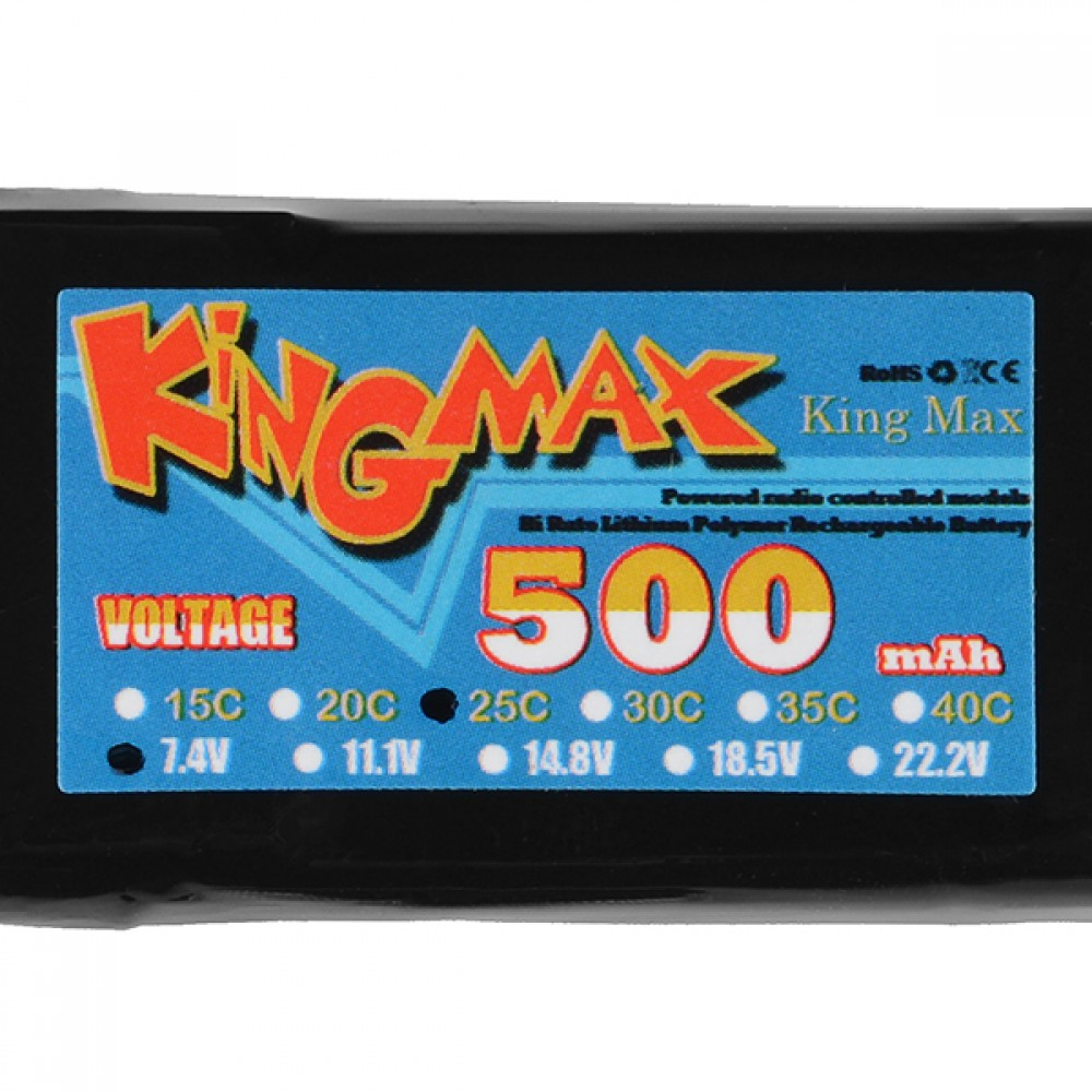Литий-полимерный аккумулятор - 500 мАч - 7,4V