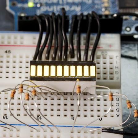 Желтый 10segment LED прогресс бар для Arduino