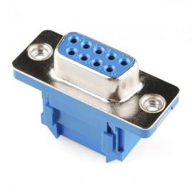 Коннектор серийный - резиновый кабель (мама, 9 пинов)