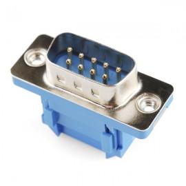 Коннектор серийный - резиновый кабель (папа, 9 пинов)