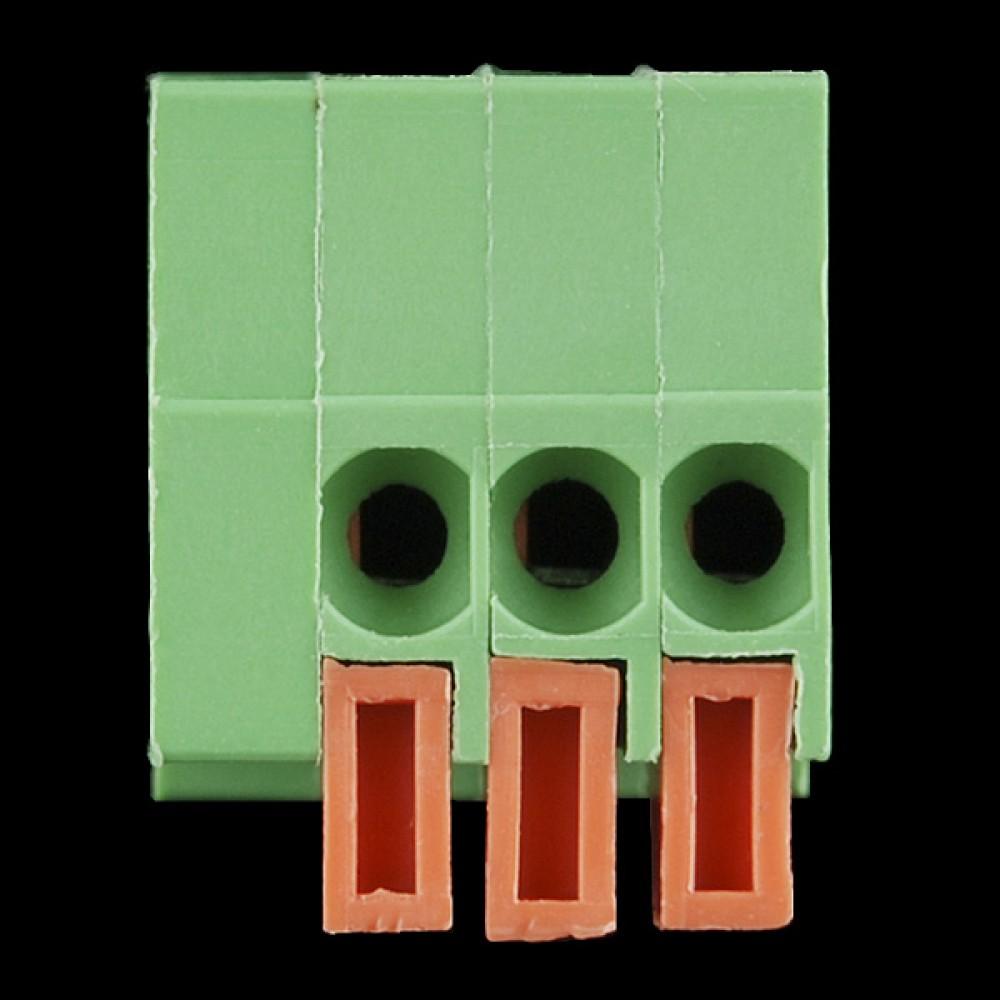 Терминалы с пружиной - для монтажа на плату (3-пиновые)