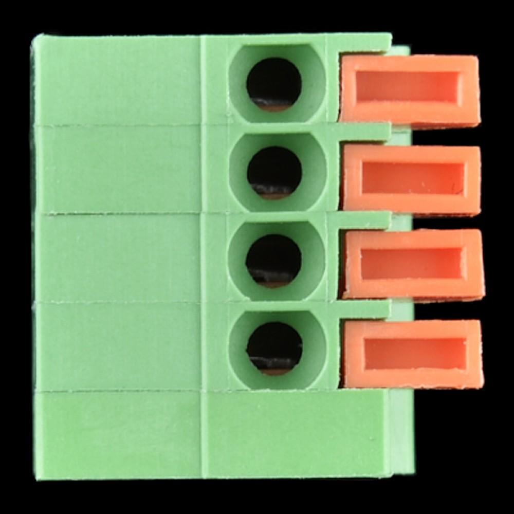 Терминалы с пружиной - для монтажа на плату (4-пиновые)