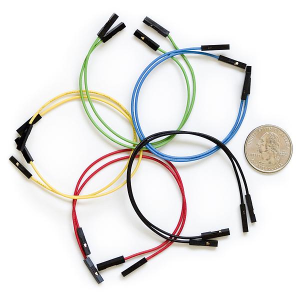 """Провода для джамперов Premium - длина 6""""; (мама-мама, набор из 10)"""