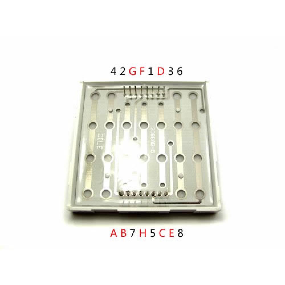 Матрица 60mm 8*8 LED красная для Arduino