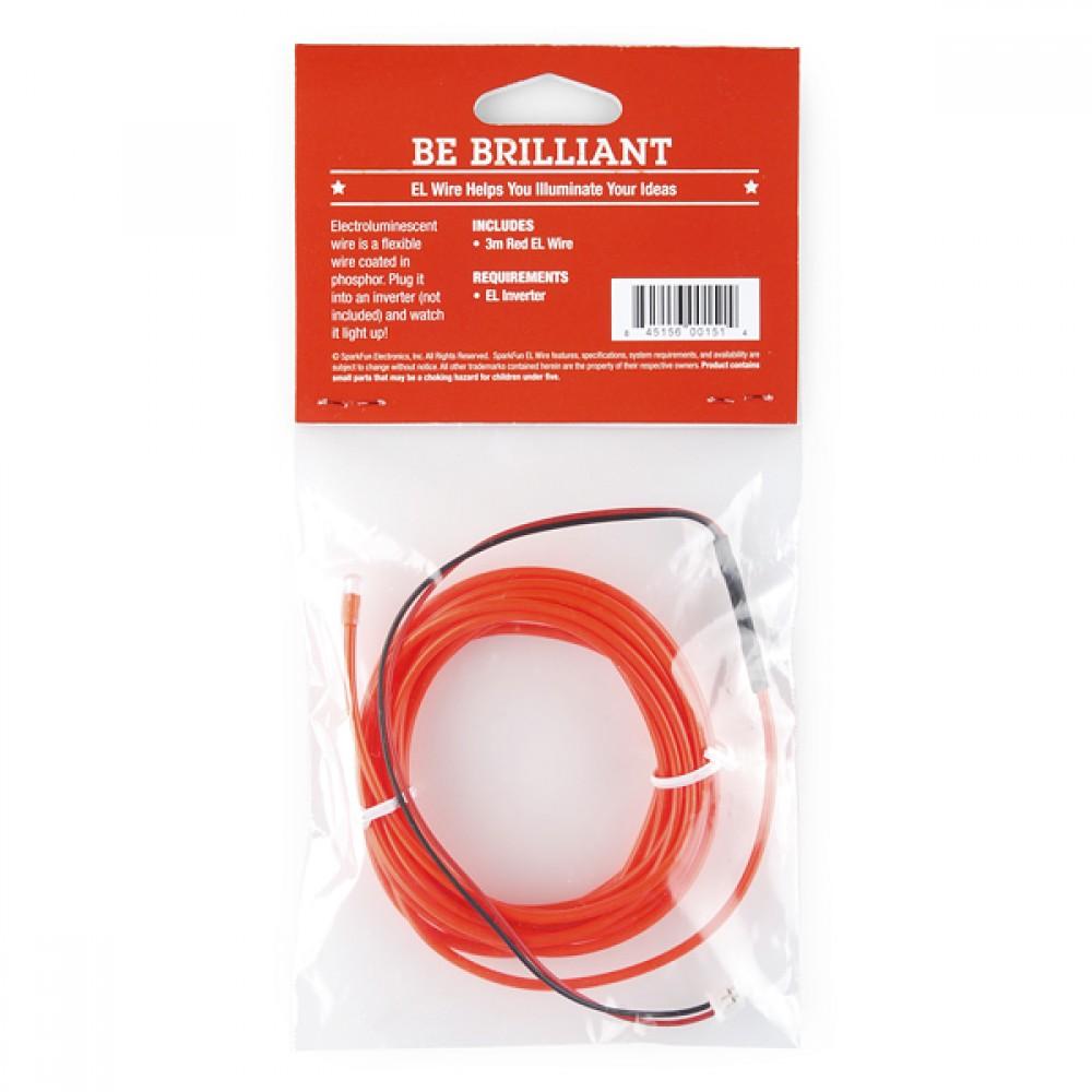 красный люминесцентный провод EL Wire -