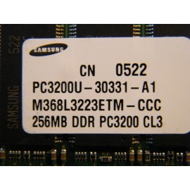DDR 256 Mb  PC 3200 Samsung Dov