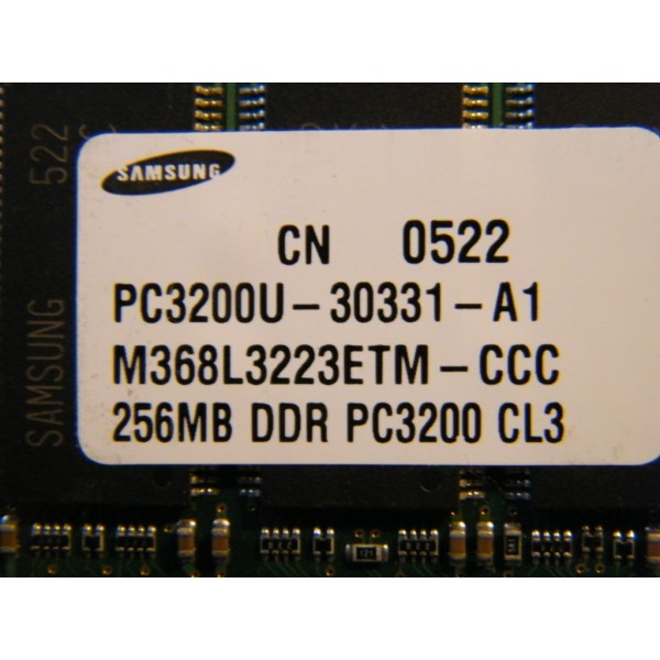 DDR 256 Mb  PC 3200 Samsung Dov