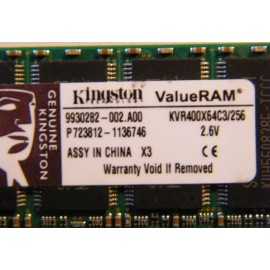 DDR 256 Mb PC 3200 Kingston Dov