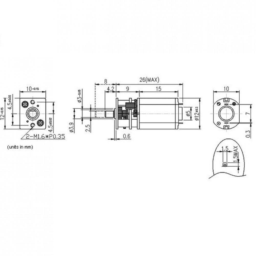 Мотор Micro Metal Gearmotor 100:1