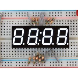 """Белый 7-сегментный экран для часов - высота цифр 0,56"""""""
