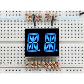 """Экран буквенно-цифровой - Синий буквы высотой 0.54"""" - набор из двух экранов"""