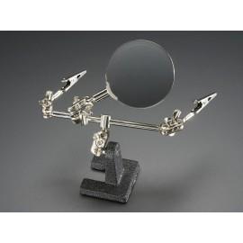 Манипулятор с лупой Helping Third Hand Magnifier W/Magnifying Glass Tool - MZ101