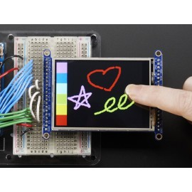 "Экран 2.8"" TFT LCD с тачскрином и разветвителем и разъемом MicroSD - ILI9341"
