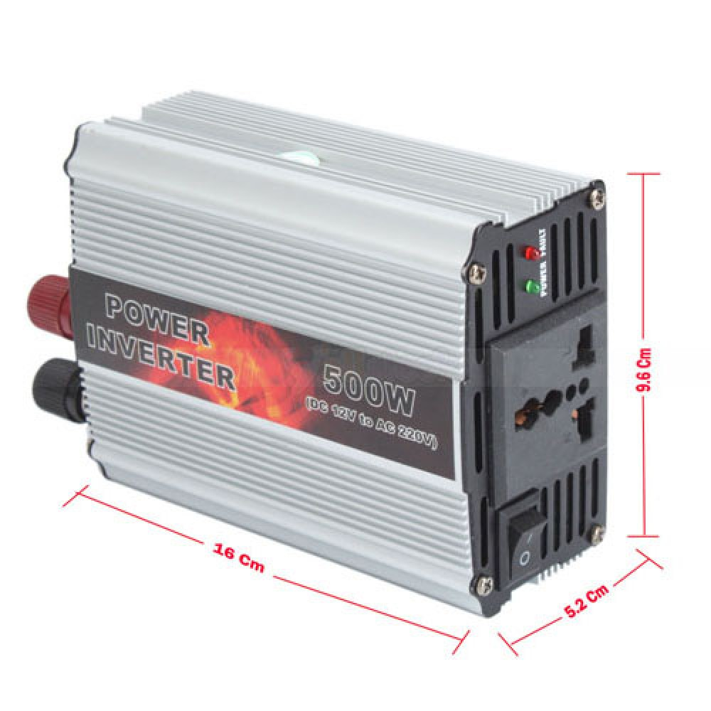 Инвертор DC 12V - AC 220V 500W к солнечная батарея