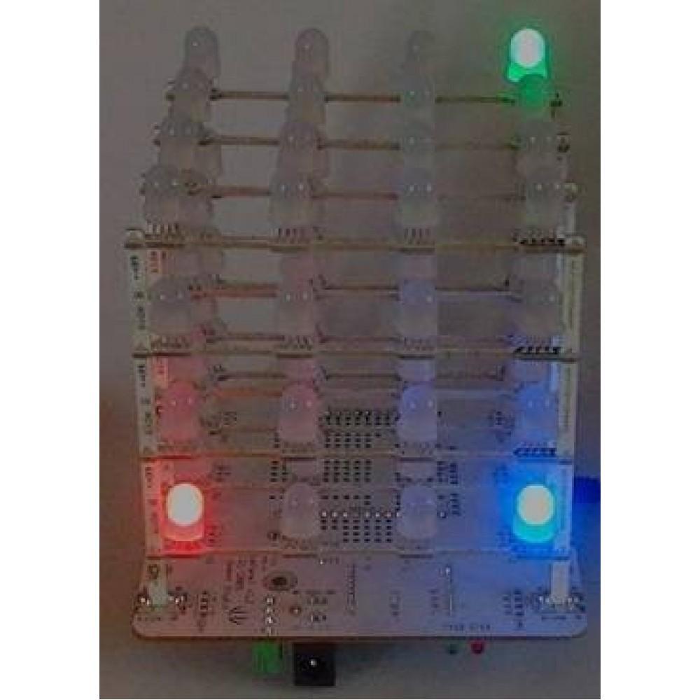 Rainbow куб светодиод RGB 4X4X4 для Arduino