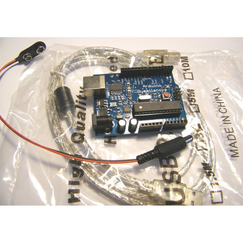 Arduino Duemilanove ATmega 328 + USB Cable