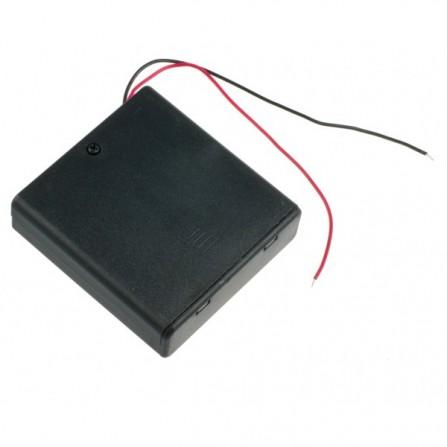 4xAA Держатель батареи с крышкой для Arduino